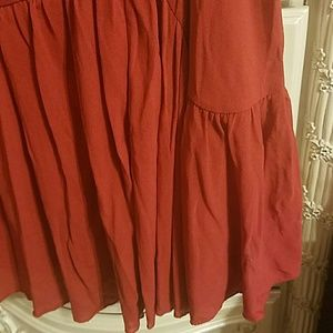 Ideology Skirts - Rust colored ruffled mini skirt